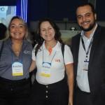 Marcia Pereira, da Transmundi, Rosana Carvalho, da Gol, e André Bento, do SulAmérica