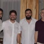 Marcos Bizzotto, da Abreu; João Faria, da Iberostar; Alexandre Taborda, da BWT Operadora; e José Carlos Ribas, da BRT Operadora