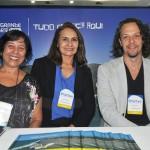 Maria Correira, da FTM Eventos, com Ana Rita Couto e Bruno Reis, do Rio Grande do Norte