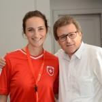Martina Schiess, do Turismo da Suiça, e Urs Risch, da Londontur