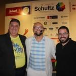 Mustafá Dias, diretor Executivo de Turismo de Recife; Braulio Moura, contador de histórias; e Rodrigo Sá, Gestor de Marketing da Secretária de Turismo de Recife