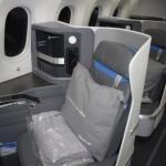 Poltronas de classe executiva do B787-9 Dreamliner