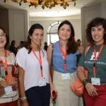 Rachel Batista, da Ativa Turismo, Ju Honegger, Embarque Turismo, Roberta Chamma, da Flaptur, e Sylvia Silva, da Skibrasil