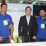 Reginaldo Silva, Pablo Zabala e Eduardo Senra, da Princess Cruises