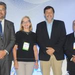 Roberto Neldeciu, da Braztoa, Sônia Chami, do RioCVB, Sérgio Ricardo, da Setur-RJ, e Júlio Cézar, do Sebrae