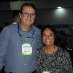 Sebastião Garcia, da Azul, e Cristina Fritsch, da Abav Nacional