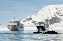 Silver Whisper é o primeiro navio de volta ao mundo a visitar a Antártica
