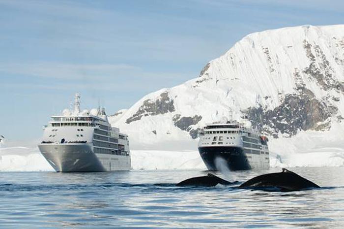 Silver Whisper é o primeiro navio a visitar a Antártica em um cruzeiro de volta ao mundo