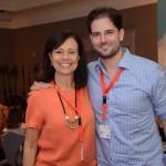 Sylvia Leimann, da Guarda Golf Hotel, e Rafael Romeiro, da FVO Travel