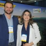 Thiago Fonseca e Denise Carrá, da Secretária de Turismo do Ceará