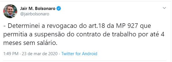 Twwet Bolsonaro