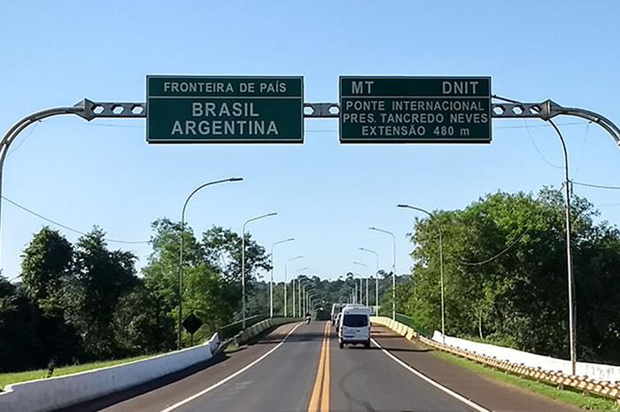 A fronteira com o Uruguai é a única que permanece aberta no momento
