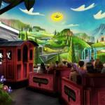 Na história, o casal Mickey e Minnie vive diversas aventuras a bordo de um clássico conversível vermelho