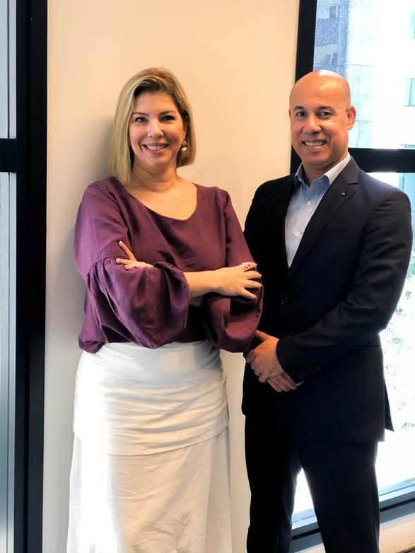 Ana Luiza Masagão, nova diretora de Vendas e Marketing, e Mário Leite, novo diretor de Operações