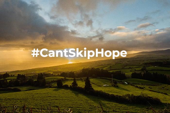 O destino trocou a #CantSkipPortugal para #CantSkipHope, em uma forma de manter a esperança das pessoas durante a crise do Coronavírus