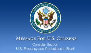 Coronavírus: Embaixada pede retorno imediato de norte-americanos que estão no Brasil