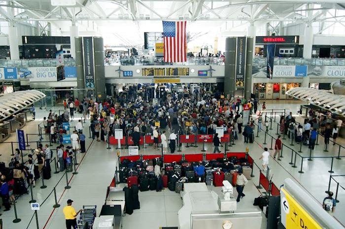 Aeroporto JFK, em Nova York