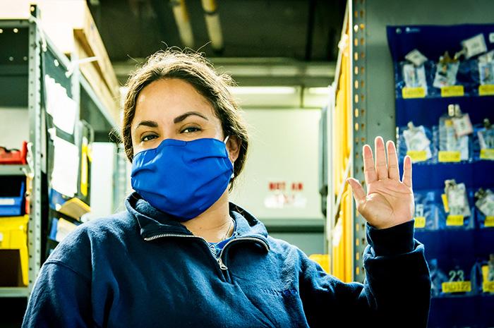 Funcionários receberão máscaras