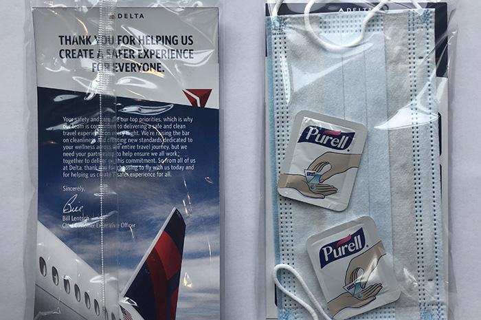 Kit de cuidados pessoais da Delta