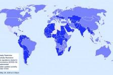 Mapa interativo mostra restrições de viagem em cada país