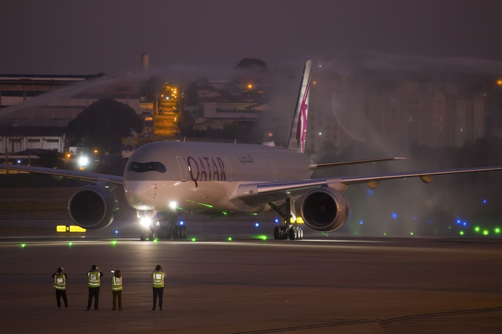 QATAR AIRWAYS AIRBUS A350-1000 GRU 10 @nevesplanepictures