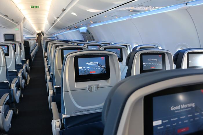 A321 interior Delta Divulgação