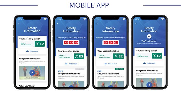 Layout do Muster-2.0 em aplicativo para celular