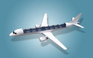 Embraer desenvolve soluções de transporte de carga para aeronaves comerciais