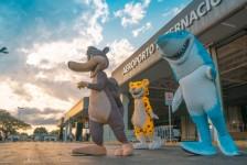 Mabu leva mascotes para Blue Park e hotéis de Foz do Iguaçu