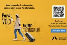 Aeroporto de Brasília lança campanha 'Para Você Voar Tranquilo'