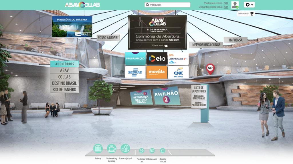 Ambiente virtual do Abav Collab.