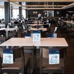 Novo layout dos restaurantes para evitar o contato