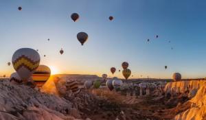 Passeios de balão são retomados na Capadócia