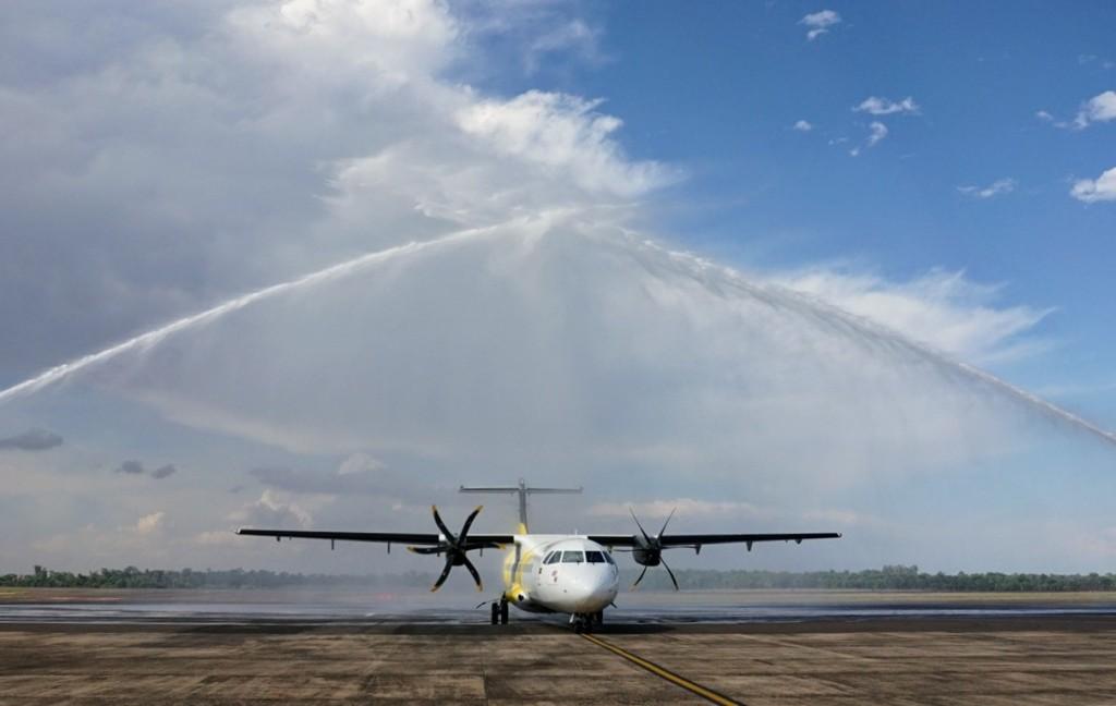 Aeronave da VoePass pousou em Foz do Iguaçu no voo inaugural