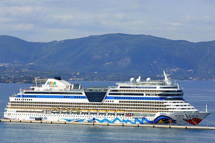 Passageiros viajavam a bordo do AIDAblu