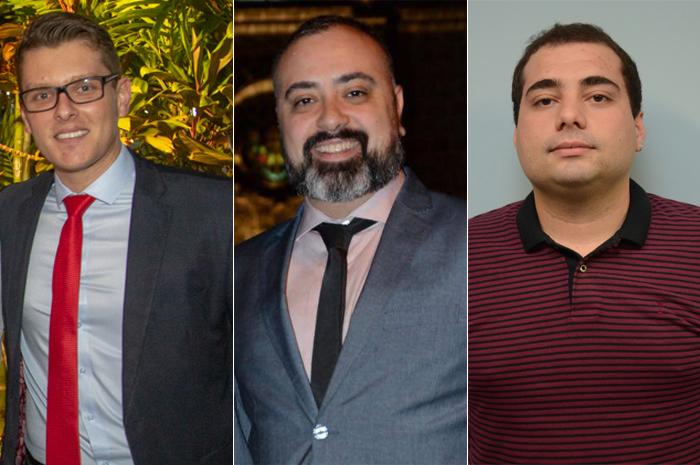 Igor Regis, Anderson Masetto e Pedro Menezes