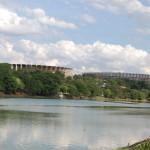 Mineirinho e Mineirão no entorno da Lagoa da Pampulha