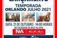 Nice Via Apia lança pacotes para julho de 2021 em Orlando nesta quarta (21)