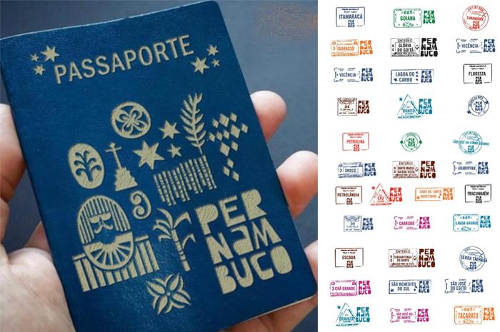 Passaportes Pernambuco e carimbos dos destinos