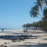 Praia quase deserta encanta os turistas