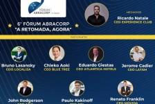 Fórum Abracorp: líderes debatem a retomada gradual do turismo e dos eventos