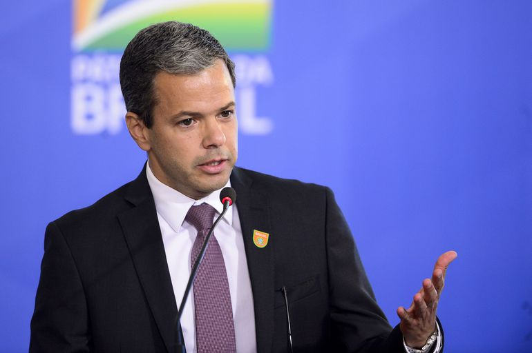 O diretor-presidente da ANAC, Juliano Noman, durante o lançamento do programa Voo Simples, no Palácio do Planalto.