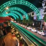 Arcos iluminados no Natal Luz de Gramado