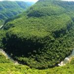 Curva do rio Caí em forma de ferradura dá nome ao Vale. Foto Divulgação