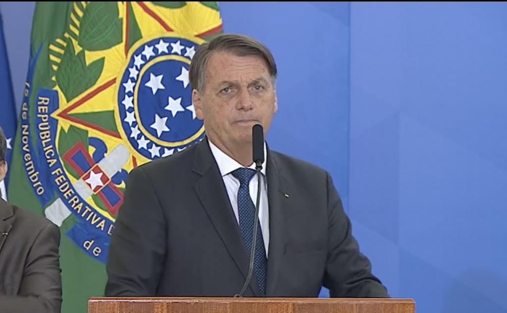 Jair Bolsonaro durante a posse de Gilson Machado