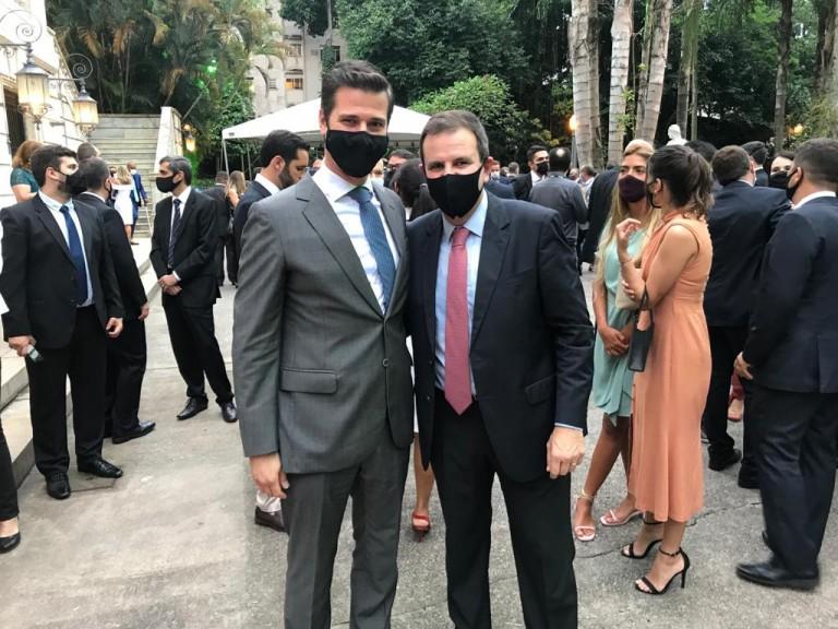 Cristiano Beraldo, secretário do Rio de Janeiro, com o prefeito Eduardo Paes