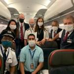 Tripulação de cabine do voo inaugural