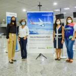 Sarah Ferreira, da American, RoseleneMedeiros, da Amazonastur, Suzana Yeh, da American, e Ana Claudia Rego, da Amazonastur