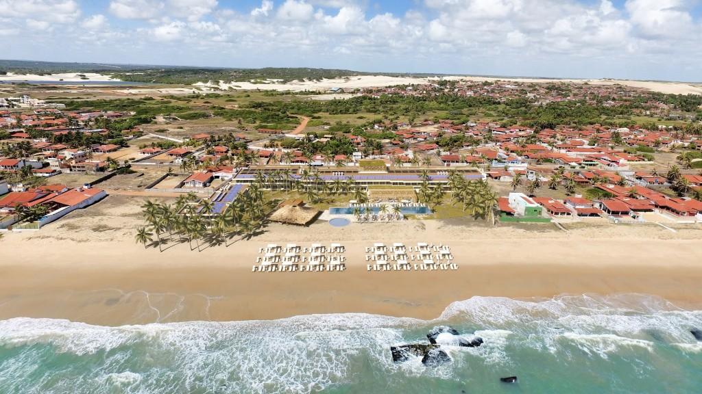 Praia de Graçandu, onde resort será instalado. Construção está prevista para começar em 2022 e entrega em 2023