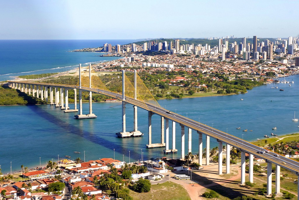 Vista aérea da cidade de Natal, apontada como um dos principais destinos no Travelers Choice e também no levantamento do MTur